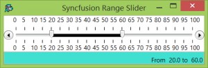 A Syncfusion RangeSliderControl