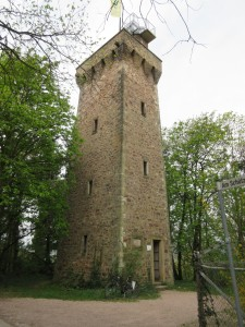 The watch tower at the top of the hill south of Bingen