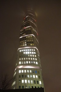 The Turning Torso in the Mist, After Dark