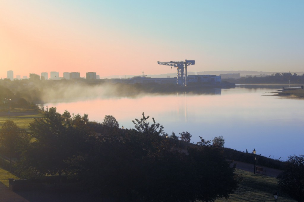 Mist on the River Clyde at dawn