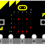 BBC micro:bit displaying a happy face